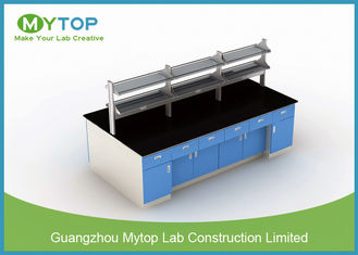 Science Room Furniture With Epoxy Resin Worktop , Science Laboratory Table
